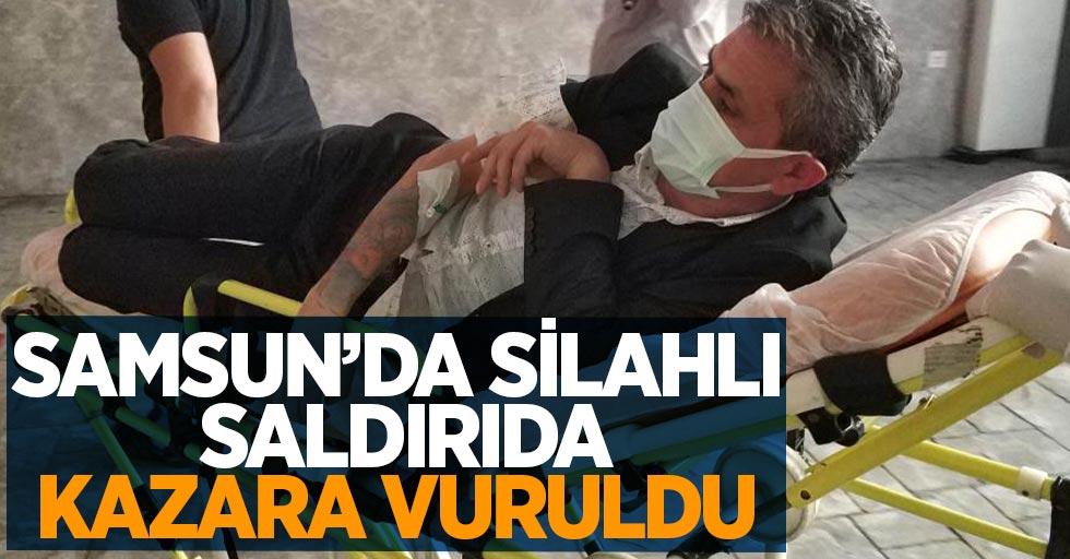 Samsun'da silahlı saldırıda kazara vuruldu