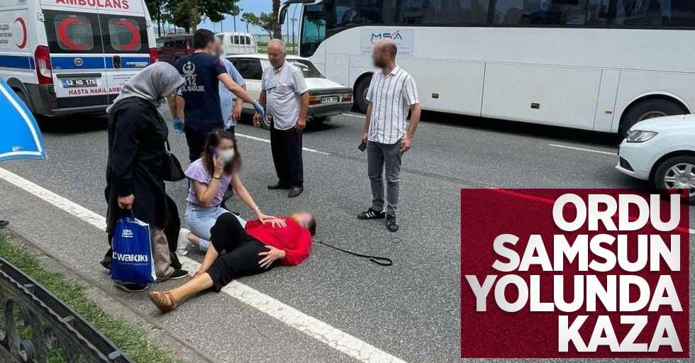 Ordu-Samsun yolunda kaza: 1 yaralı