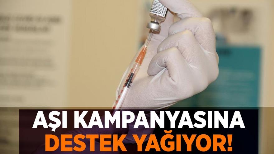 Samsunda başlatılan aşı kampanyasına destek yağıyor