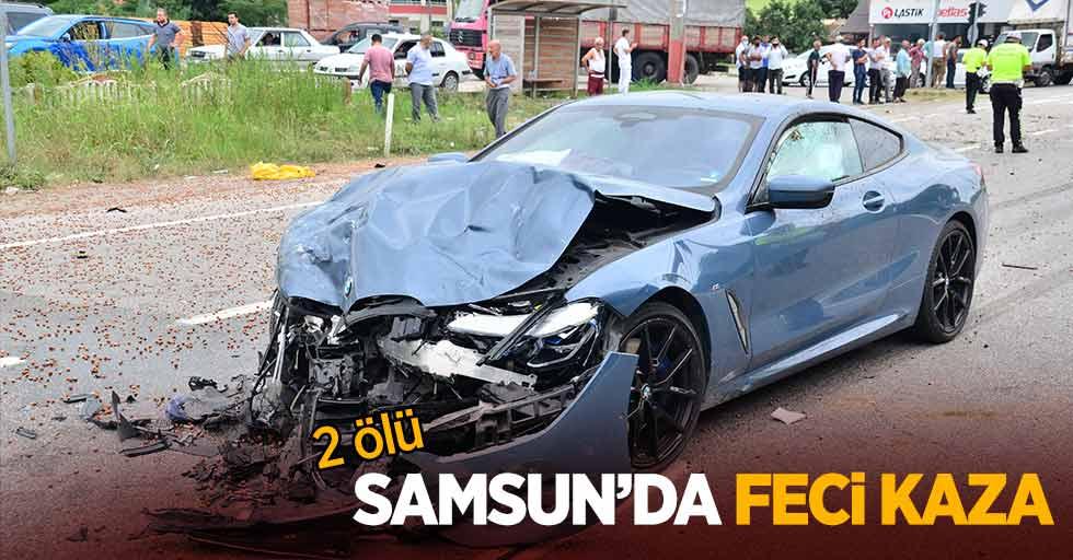 Samsun'da feci kaza: 2 ölü