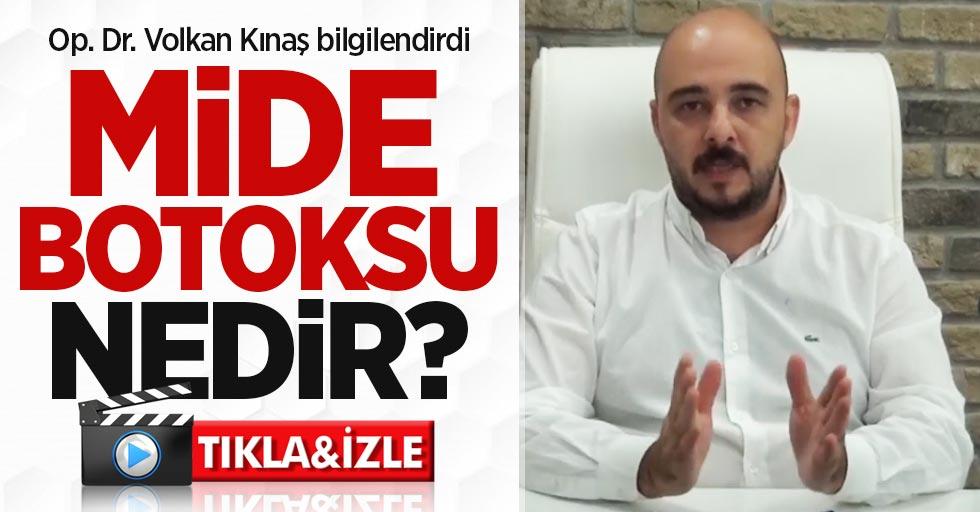 Op. Dr. Volkan Kınaş mide botoksu konusunda bilgilendirdi
