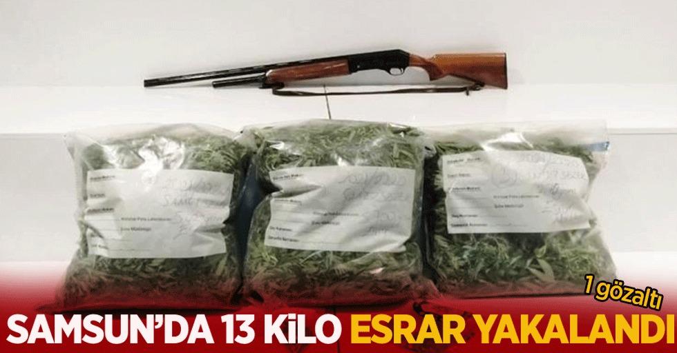 Samsun'da 13 kilo esrar yakalandı:1 gözaltı