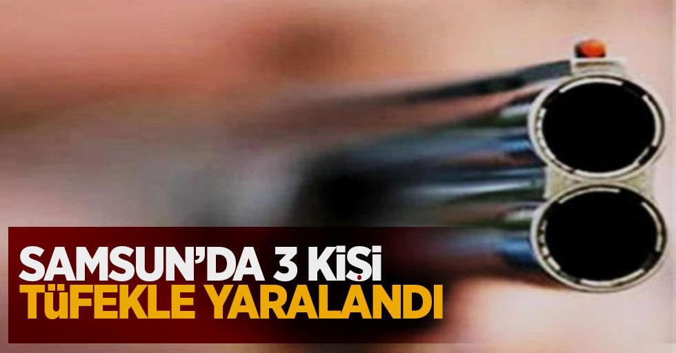 Samsun'da 3 kişi tüfekle yaralandı