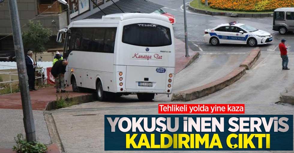 Samsun'da tehlikeli yokuşta yine kaza!