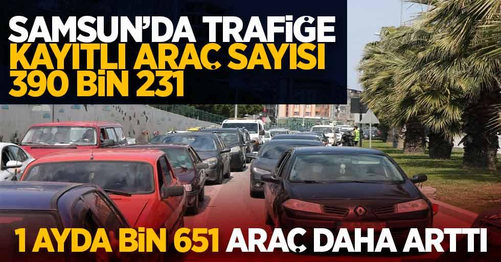 Samsun'da trafiğe kayıtlı araç sayısı 390 bin 231