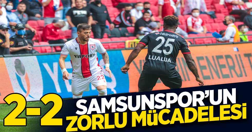 Samsunspor'un zorlu mücadelesi 2-2