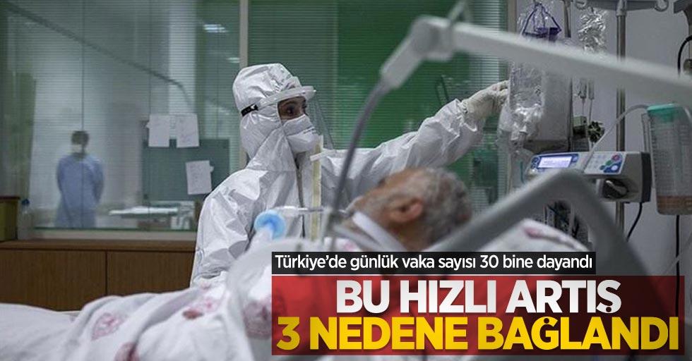 Türkiye'de günlük vaka sayısı 30 bine dayandı! Bu hızlı artış 3 nedene bağlandı