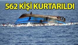 Göçmen Teknesi Battı, 562 Kişi Kurtarıldı