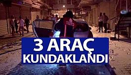 3 Araç Kundaklandı