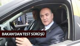 Bakan'dan Yerli Otomobil İle Test Sürüşü