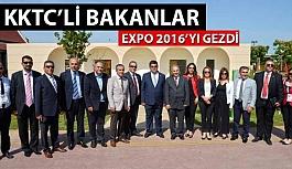 KKTC'li Bakanlar EXPO 2016'ya Göz Gezdirdi