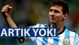 Messi, artık milli takımda yok