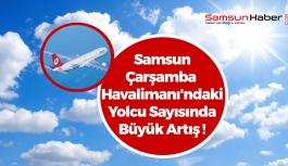 Samsun-Çarşamba Havalimanı'ndaki Yolcu Sayısında Büyük Artış !