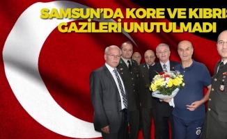 Samsun'da Kıbrıs ve Kore Gazilerine Ziyaret