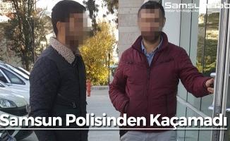 Samsun Polisinden Kaçamadı