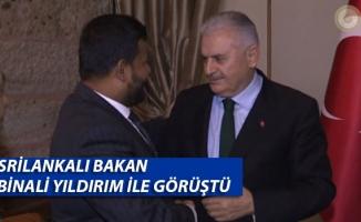 Sri Lanka Ticaret Bakanı Bathuideen Başbakan Yıldırım ile Görüştü