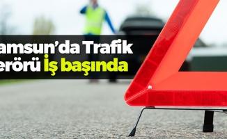 Samsun'da TIR'ın Sıkıştırdığı Minibüs Şarampole Yuvarlandı