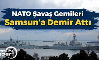 NATO Savaş Gemileri Samsun'a Demir Attı!