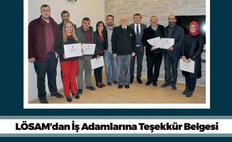 Samsun'da LÖSAM'dan İş Adamlarına Teşekkür Belgesi