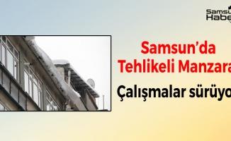 Samsun'da Tehlikeli Manzara