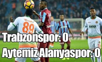 Trabzonspor: 0 - Aytemiz Alanyaspor: 0