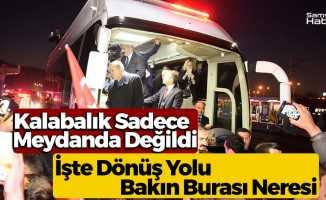 Cumhurbaşkanı'na Samsun'da Dönüş Yolunda...