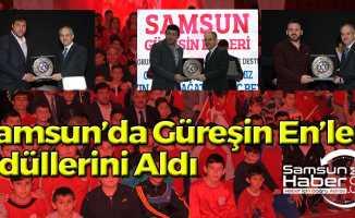 """Samsun'da """"Güreşin En'leri"""" Ödüllerini Aldı"""