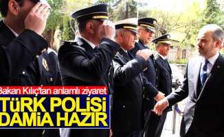 Bakan Kılıç, Samsun İl Emniyet Müdürlüğünü ziyaret etti