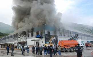 Karadeniz'de Organize Sanayi Bölgesinde korkutan yangın
