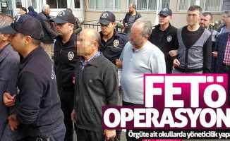 Samsun'da FETÖ operasyonu: Gözaltına alınan 13 kişi...