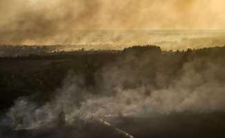 Çernobil'de korkutan yangın