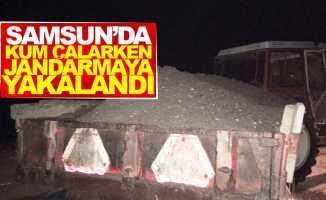 Samsun'da nehir yatağından kum çalarken jandarmaya yakalandı