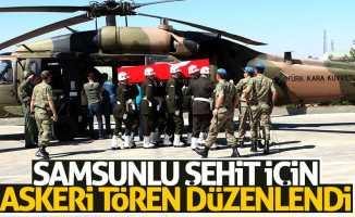 Samsunlu şehit için askeri tören düzenlendi