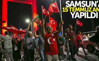 Samsun'da 15 Temmuz Anıtı yapıldı