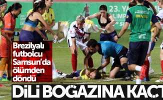 Samsun'da dili boğazına kaçan futbolcu ölümden döndü