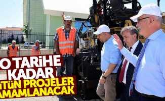 Samsun'da o tarihe kadar bütün projeler tamamlanacak
