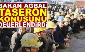 Bakan Ağbal, taşeron işçilerle ilgili konuştu