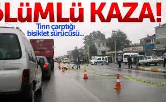 Samsun'da ölümlü kaza: Tır, bisiklete çarptı