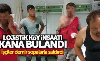 Samsun Lojistik Köy inşaatı kana bulandı: 4 yaralı