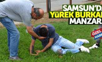 Samsun'da sokak ortasında krize girdi