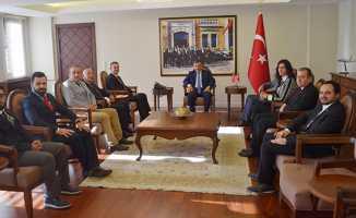 Kadir Gürkan, Vali Osman Kaymak'ı ziyaret etti