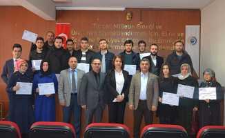 Girişimci adaylarına sertifikaları verildi