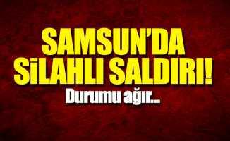 Samsun'da silahlı saldırı! Boynundan vuruldu