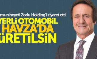 Samsun'dan Zorlu Holding'e yerli otomobil ziyareti