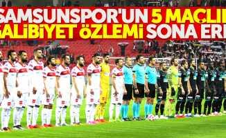 Samsunspor'un 5 maçlık galibiyet özlemi sona erdi