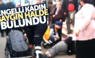 Samsun'da engelli kadın baygın bulundu