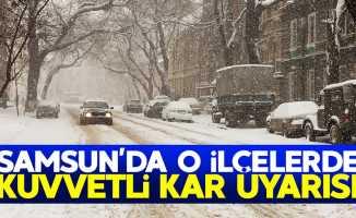 Samsun'da o ilçelerde kuvvetli kar yağışı uyarısı!