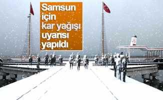 Samsun'da soğuk ve kar uyarısı