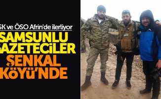 Samsunlu gazeteciler ÖSO ile Şenkal Köyü'ne girdi