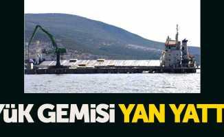 Kuru yük gemisi Karadeniz'de yan yattı
